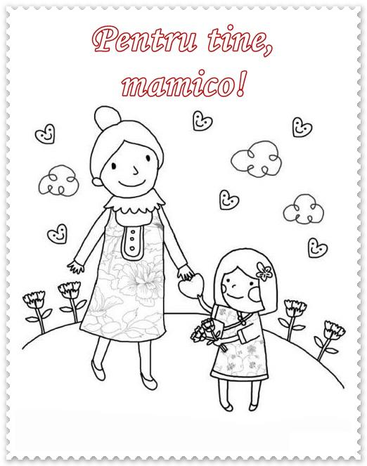 Felicitari 8 Martie De Colorat Pentru Mama