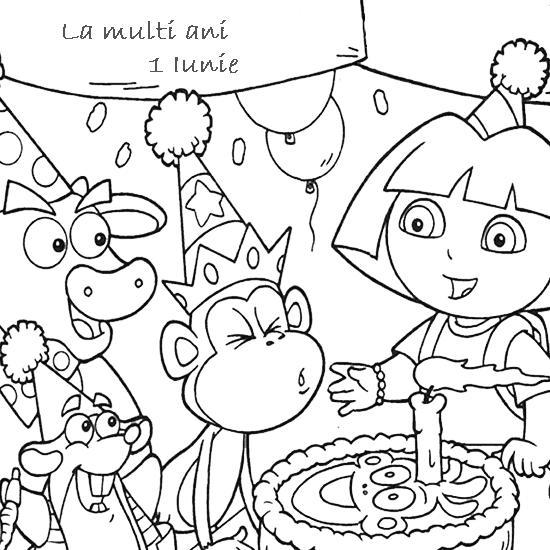 1 Iunie Ziua Internationala A Copiilor Planse De Colorat