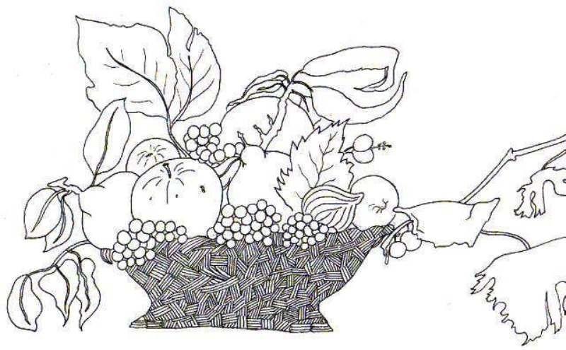 Fructe De Toamna Planse De Colorat