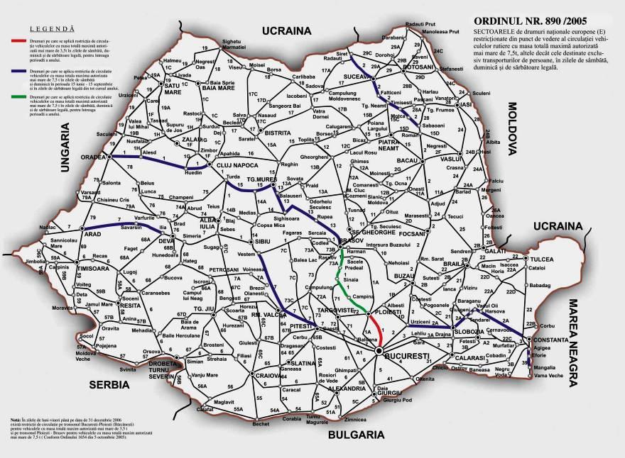 Harti Rutiere Romania