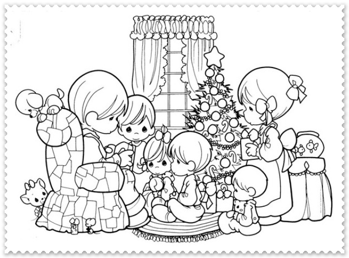 Ornamente Si Simboluri De Craciun De Colorat Pentru Copii