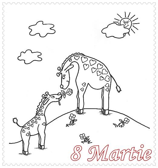 felicitari 8 martie de colorat pentru iubita