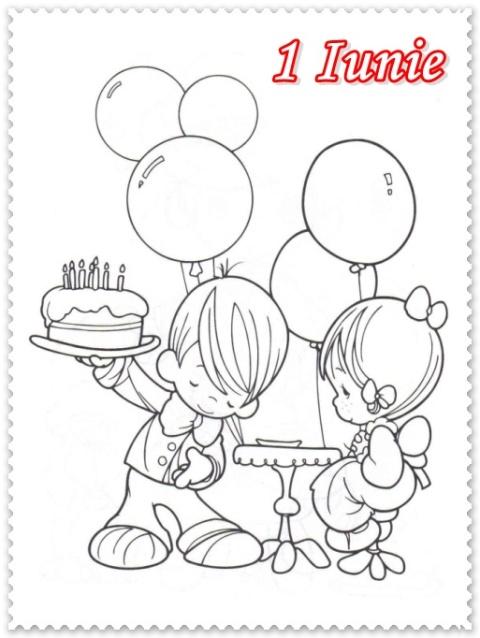 Fise De Colorat De 1 Iunie Ziua Copilului